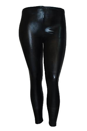 da25ec962ff2c Nouvelle New Womens Leggings Latex Wet Look PVC Pants Plus Size Ladies  Nouvelle 12-30: Amazon.co.uk: Clothing