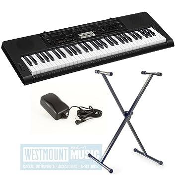 Nueva Casio® CTK3000 teclado táctil + soporte + adaptador de CA producto exclusivo de música Westmount: Amazon.es: Instrumentos musicales