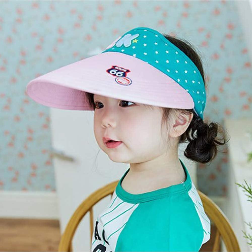 Sun Cap Summer Kids Girls Toddler Sun Hat Sun Visor Hat Large Brim Visor Caps Outdoor UV Protection UPF 50