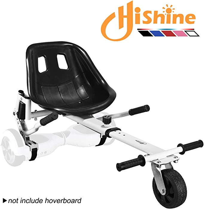 """Adjustable Hoverboard Seat Attachment, Go Cart, Go Kart, Hoverboard Accessories, Hoverboard Conversion Kit, with Heavy Duty Frame, Available to Fit All Ages, Fits 6.5""""/8""""/10"""""""