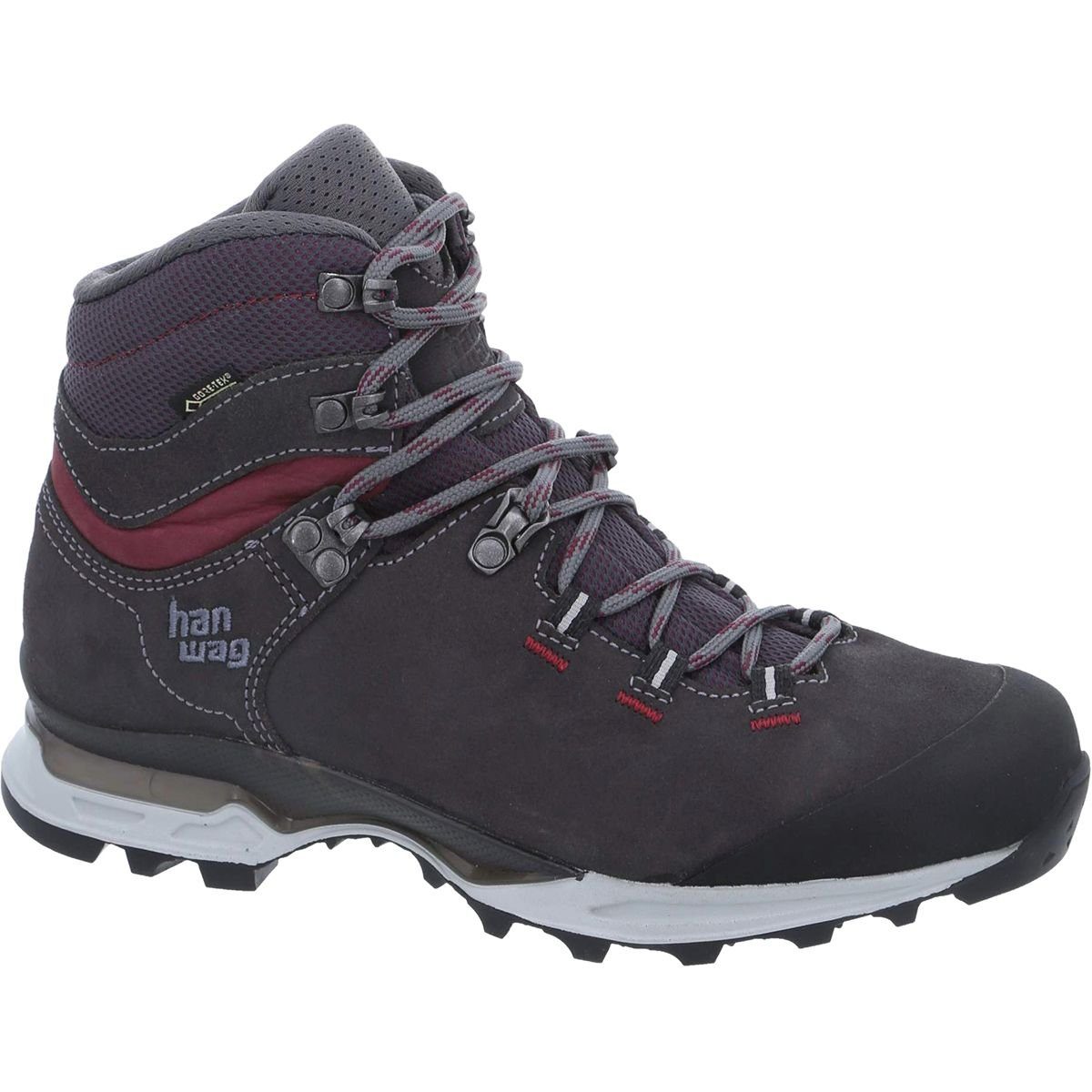 Hanwag Tatra Light Lady GTX Backpacking Boot - Womens, Asphalt/Dark Garnet, H202501-64356-8.5 by Hanwag