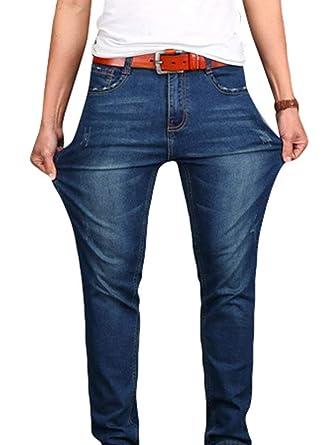 BOLAWOO Pantalones Vaqueros Ajustados con Vaqueros De ...
