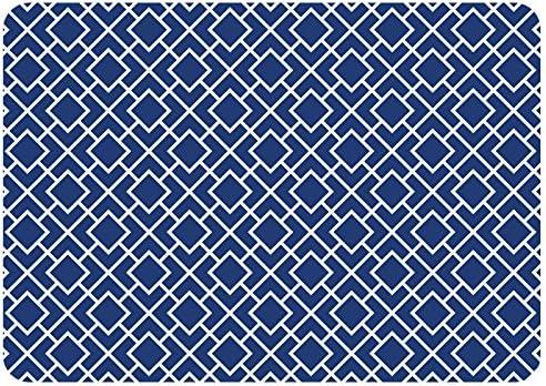 Premium Comfort Tazekka Grid Mat, 22 by 31-Inch, Blue