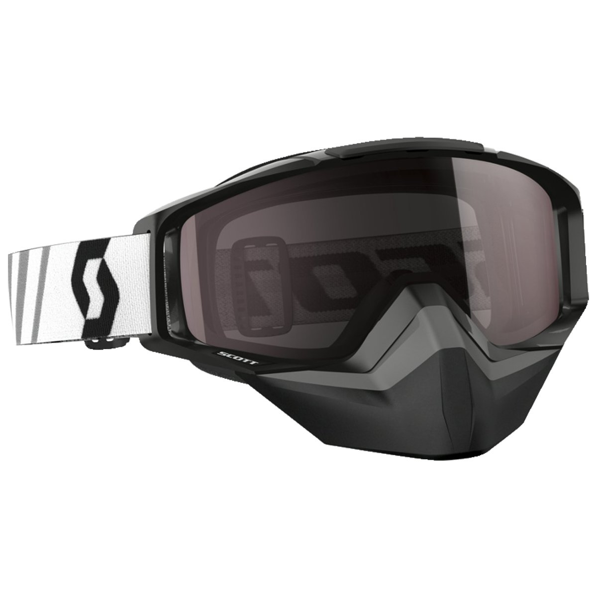 Scott Tyrant Adult Snowmobile Goggles - Black/Chrome / One Size
