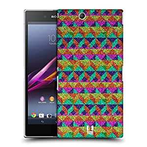 Head Case Designs Cubism Glittering Pattern Protective Snap-on Hard Back Case Cover for Sony Xperia Z Ultra C6802