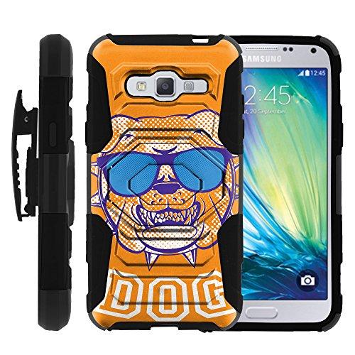 Samsung Galaxy J3 Case| Express Prime| Amp Prime Case |[Armor Reloaded] Rugged Hard Rubber Durable Unique Creative Cover + Belt Clip by Miniturtle - Orange Bulldog (Armor Express Bulldog compare prices)