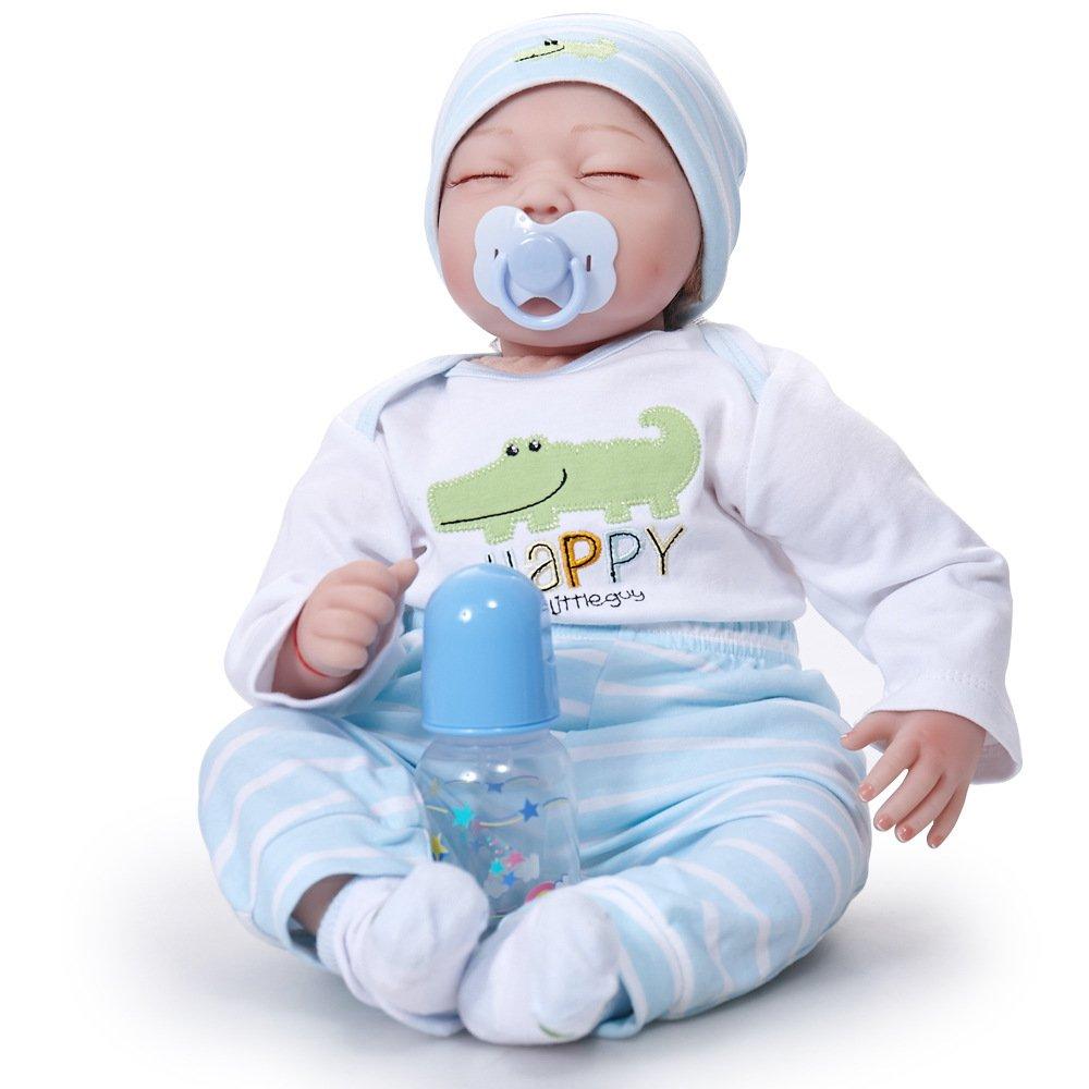 QXMEI Simulación Baby Rebirth Doll 55cm Boy Silicone Toy ...