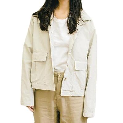 Abetteric Womens Fashion Loose Autumn Winter Blazer Leisure Short Coat Jacket
