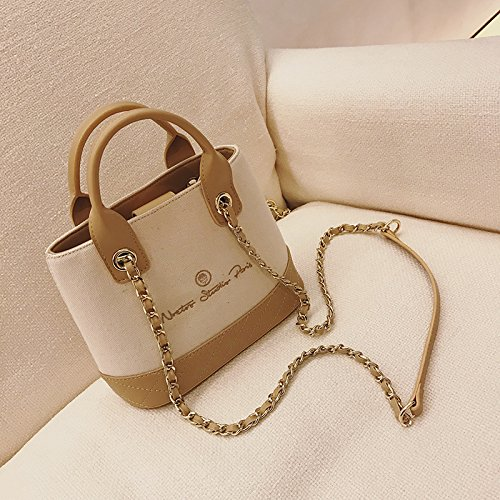 Bags Wxin Handbags Skew Women's Water Bags Shoulder Canvas Leisure Letters rrwUqEp
