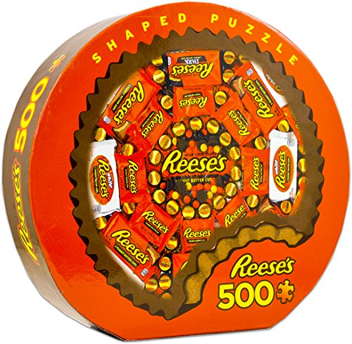 MasterPieces Hershey's Shaped Collection Jigsaw Puzzle, Reese's, 500 Pieces]()