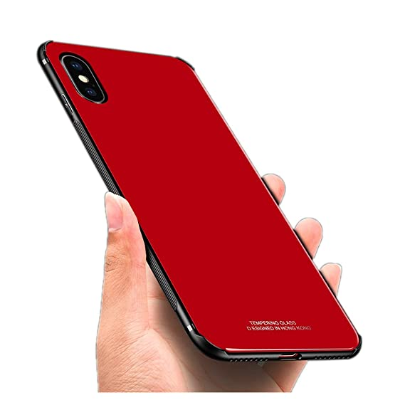 best website f3732 f4299 iPhone X Case,Luhuanx iPhone X Glass Case,Tempered Glass Back Cover + TPU  Frame Hybrid Shell Slim Case for iPhone X,iPhone 10 (2017) Anti-Scratch ...