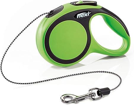 FLEXI New NEON S Gurt 5 m schwarz f/ür Hunde bis 15 kg /& LED Lighting System schwarz