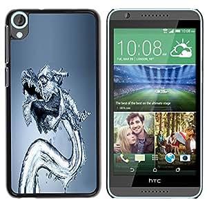 Paccase / SLIM PC / Aliminium Casa Carcasa Funda Case Cover para - Water Dragon - HTC Desire 820