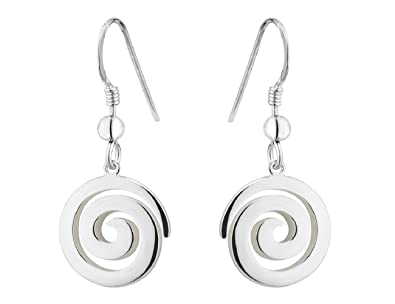 1f1df519c Image Unavailable. Image not available for. Color: Spiral Earrings Sterling  Silver ...