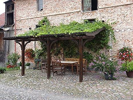 Jardín Verde - Cobertizo de Madera con Techo Curvo en forma de
