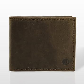 Marc Picard hechas a mano Exclusivo Hombres Piel Monedero tarjeta monedero cartera monedero Tarjetas Funda Wallet - Vintage Piel de ternero tobacco Länge: ...