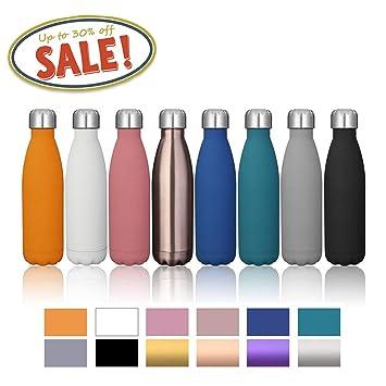 Amazon.com: Botella para agua de acero inoxidable con ...