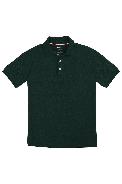 f00c4ffe6a French Toast Boys' Short Sleeve Pique Polo Shirt (Standard & Husky)