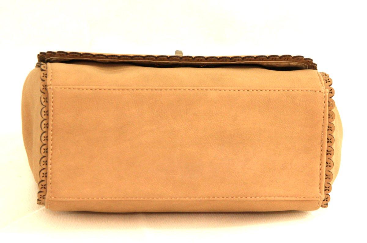 dayaday - Bolso bandolera - piel sintética - elegante, Original Y rafiné - Mujer - Beige: Amazon.es: Equipaje