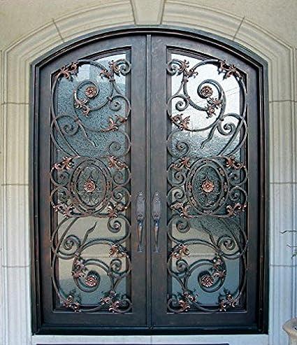 72u0026quot; x 96u0026quot; Stunning wrought iron door set by Monarch Custom Doors & 72