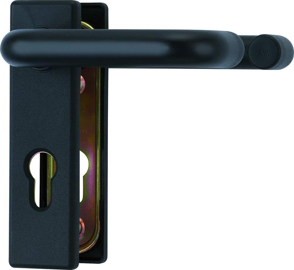 Herraje para puertas de protecci/ón contra incendios color negro mate Abus BKS
