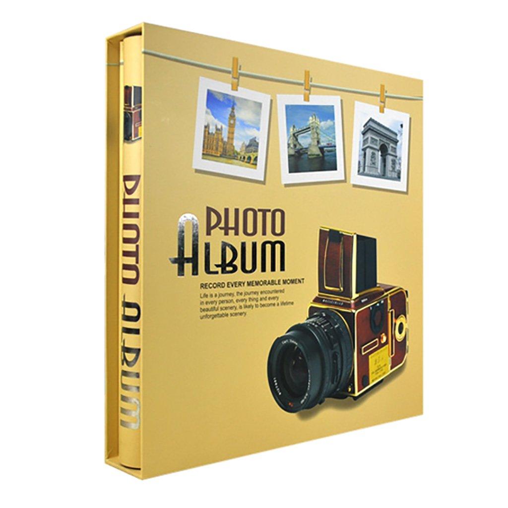 PHF Álbum de Fotos Retro intersticial   Álbum conmemorativo Puede almacenar 500 Fotos 6X4 (4R) 32.5X33.5cm