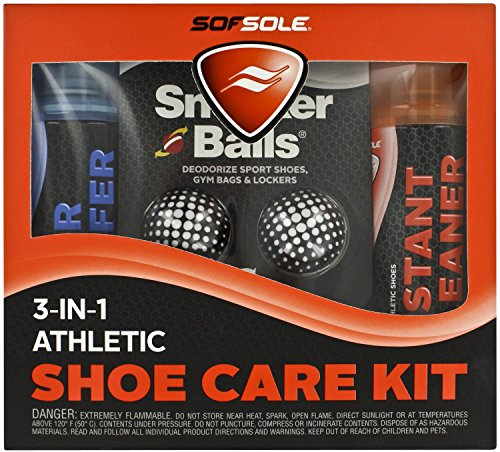 Sof Sole 3-IN-1 Athletic Shoe Care Kit with Waterproof Spray, Cleaner, and Deodorizing Sneaker Balls – DiZiSports Store