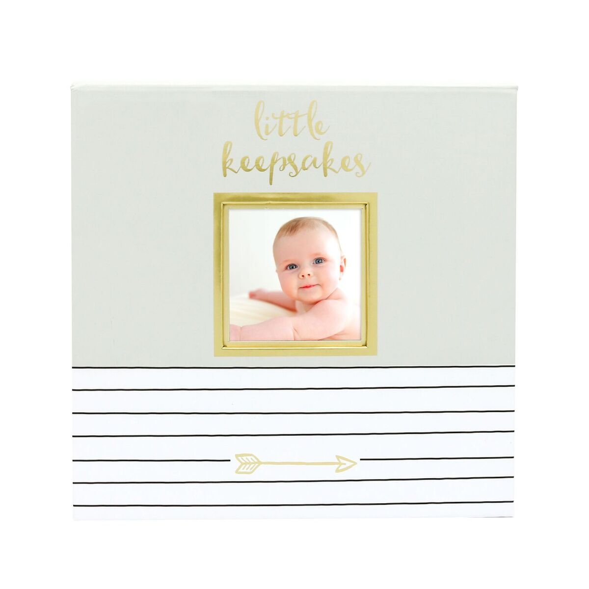 Pearhead Baby Memories Keepsake Box, Gray