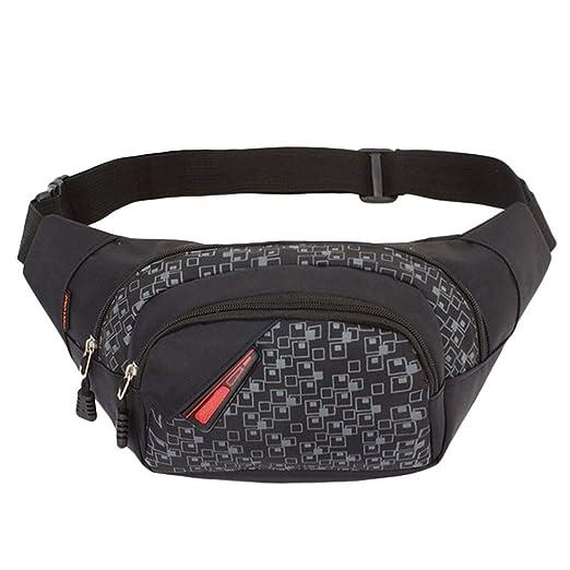 13a66e1ea2ca Amazon.com: Running Belt, Waist Bag Nylon Fanny Pack for Men Women ...