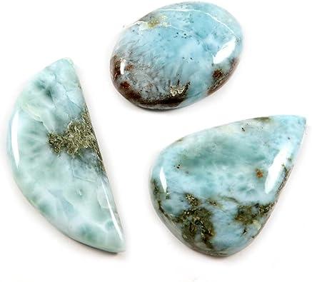 Taglio cabochon 23,85 CTS Gems/&JewelsHub J06 Pietra preziosa Naturale Larimar