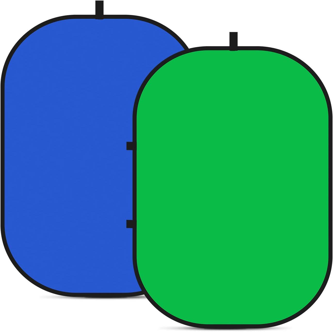 Neewer Fondo Plegable Reversible Chromakey Green Chromakey Blue 150 * 200CM Chroma-Key Azul / Verde