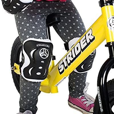 Strider - Knee and Elbow Pad Set for Safe Riding, Black : Childrens Cycling Protective Gear : Sports & Outdoors