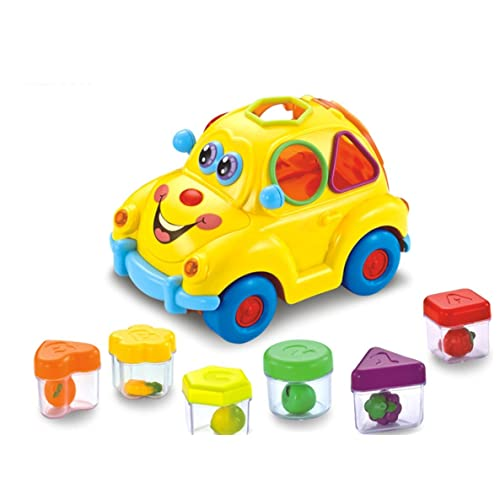 Early Education 1 Year Olds Baby Toy Fruit Car With Music Light Block For