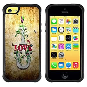 iKiki Tech / Estuche rígido - I Love U Quote Slogan Romance Relationship - Apple iPhone 5C