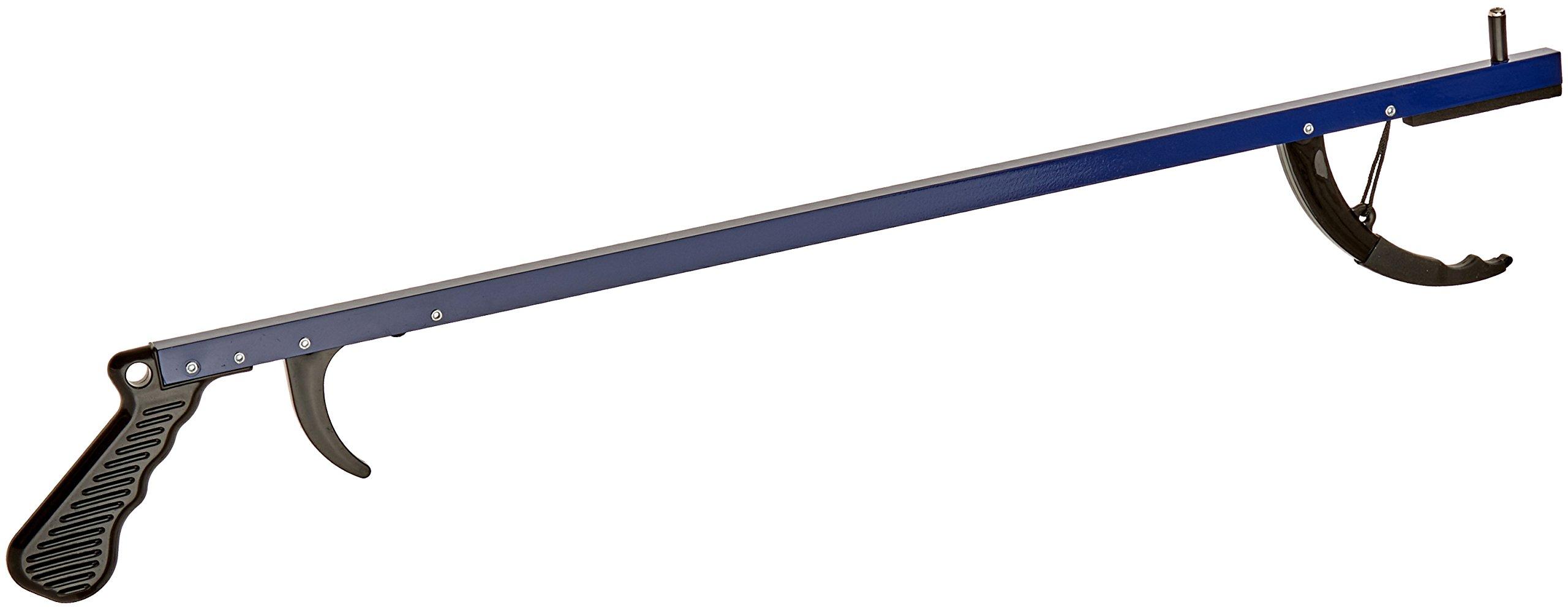 Sammons Preston Reacher, Lightweight Blue 26'' Long Handled Extension Grabber Tool, 6 oz. Handy Picker Up Tool and Reaching Claw, Aluminum Trash Pickup Aid & Garden Nabber, Reaching Assist Tool