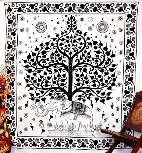 Psychedelic Celestial Elephant Tree Tapestry ,Good