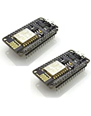 HiLetgo 2pcs New Version ESP8266 NodeMCU LUA CP2102 ESP-12E Internet WIFI Development Board Open source Serial Wireless Module Works Great with Arduino IDE/Micropython