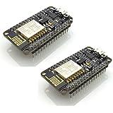 Hiletgo 2pcs Nouvelle version Nodemcu Lua ESP8266 CP2102 ESP-12E Internet Wifi Carte de développement Open Source Serial module sans fil Fonctionne parfaitement avec Arduino IDE/Micropython