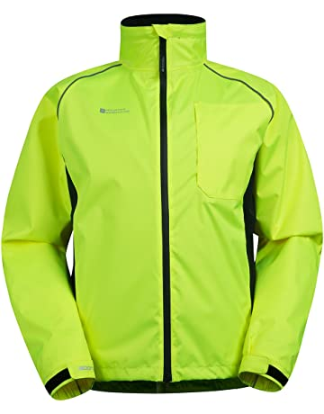 Mountain Warehouse Adrenaline Mens High Visibility Jacket - Breathable Mens  Coat 3224be094