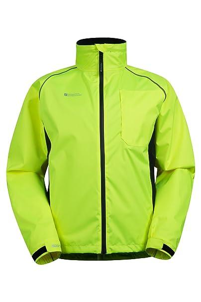 Mountain Warehouse Chaqueta de Alta Visibilidad Adrenaline para Hombre - Abrigo Transpirable para Hombre, Estampado de Alta Visibilidad, ...