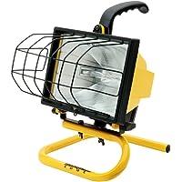 Woods - Lámpara de trabajo portátil (500 W), color amarillo