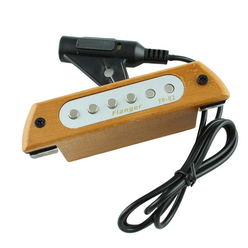 Magnetic 6 Hole Transducer Guitar Accessories Guitar Soundhole Pickup No Need Drilling Hole Pickup for Guitar Acoustic and Electric FP-02