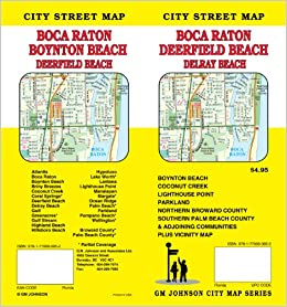 Map Of Boca Raton Florida.Boca Raton Fl City Street Map Gm Johnson Associates Ltd