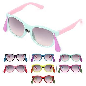 Kimruida - Gafas de Sol cuadradas para niños, diseño de ...
