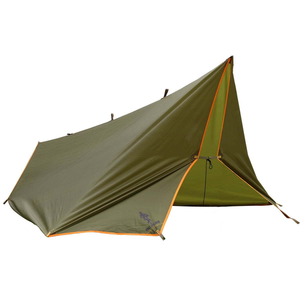 FREE SOLDIER Waterproof Portable Tarp Multifunctional Outdoor Camping Traveling Awning Backpacking Tarp Shelter Rain Tarp (Brown) by FREE SOLDIER