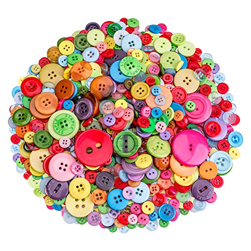 Buttons Bright (700 PCS Buttons for Sewing and Crafts)