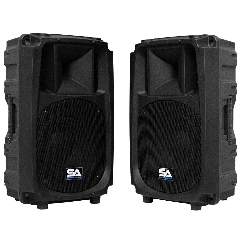 Seismic Audio S_Wave-12-Pair - Pair of 12'' 2-Way PA/DJ Speaker Cabinets - 12''