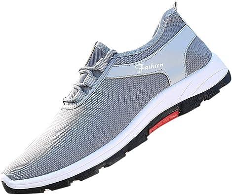 beautyjourney Zapatilla de Verano para Hombre Zapatos Casuales de Malla Tejida voladora Zapatos atléticos Zapatillas Ligeras Transpirables Zapatos para Correr: Amazon.es: Zapatos y complementos
