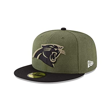 30441805b New Era Carolina Panthers On Field 18 Salute to Service Cap 59fifty 5950  Fitted Limited Edition