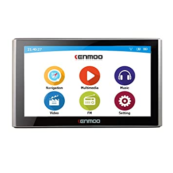 kenmoo 8 GB de 7 pulgadas TFT LCD de pantalla táctil GPS coche navegación GPS para